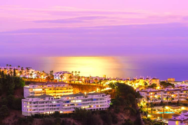 Atardecer en Marbella