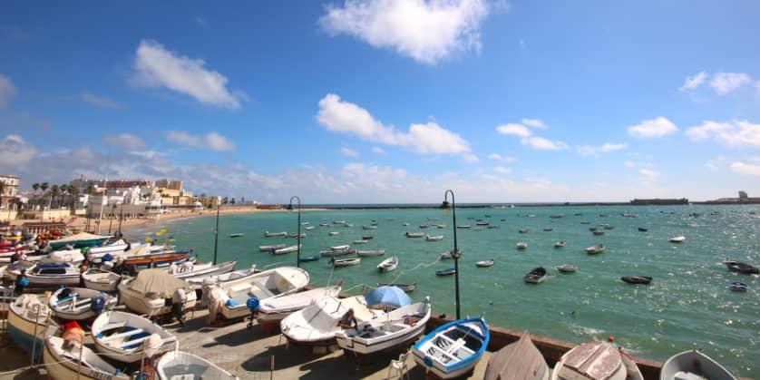 Playa Caleta en Cádiz